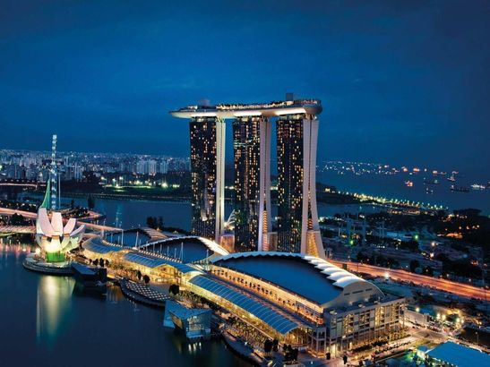 Marina Bay Sands залив Марина